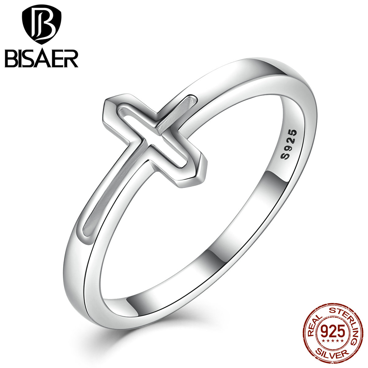 New collection real 100 925 sterling silver symbol of faith cross new collection real 100 925 sterling silver symbol of faith cross rings for women jewelry ecr033 in engagement rings from jewelry accessories on biocorpaavc Images