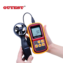High Quality GM8901+(with box ) 45m/s (88MPH) LCD Digital Hand-held Wind Speed Gauge Meter Measure Anemometer Thermometer