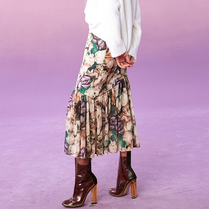 Elf sack 겨울 새 여자 스커트 캐주얼 인쇄 a 라인 대형 여성 스커트 무릎 길이 느슨한 streetwear femme 파티 스커트-에서스커트부터 여성 의류 의  그룹 3