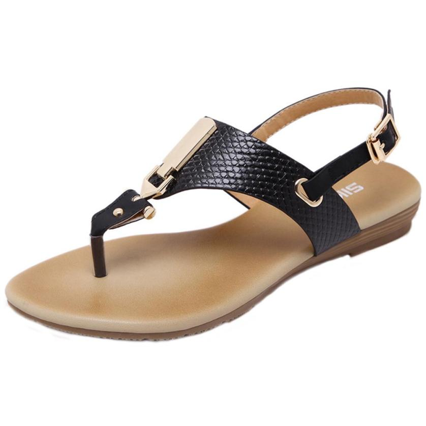 SIKETU Sandals Shoes Buckle-Strap Beach Wedge Female Gladiator Fashion Flip Mujera5 Metal-Decoration