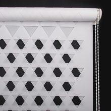 Год индивидуальные вырезанные рольставни модный дизайн, полукруглые двухслойные зебровые жалюзи отвесные или уединенные