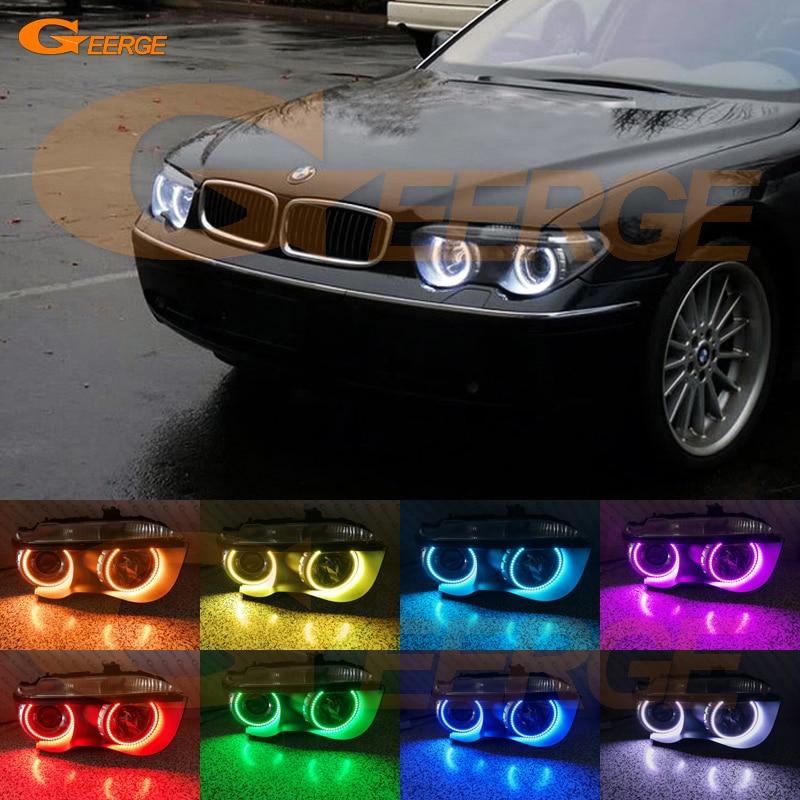 Для BMW Е65 Е66 745Li 745i 760Li 760i 2002-2005 Ксеноновые фары Мульти-Цвет Ультра-яркий RGB из светодиодов Ангел глаза комплект