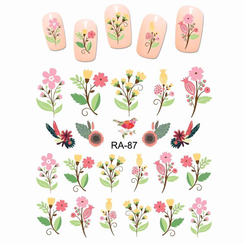 NAIL ART BEAUTY WATER STICKER DECAL SLIDER CARTOON CUTE FLOWER BOUQUET LOVE  ROSE BUD RA85-90