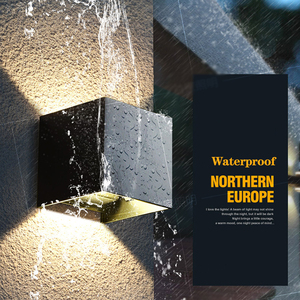 Image 4 - כיכר/עגול חיצוני קיר אור 12W אלומיניום עמיד למים קיר מתכוונן מנורת Led הארה מלון סלון תאורה AC85 ~ 265V