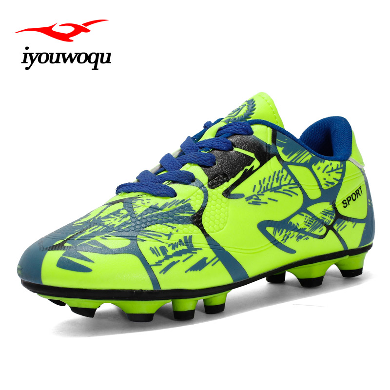 Hot Sale Cheap soccer shoes male Outdoor sports Breathable boy football boots 2017 Autumn new listing kids football shoes