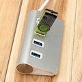 Alta velocidade de 4 portas usb 3.0 hub usb divisor hub de alumínio portátil para a apple para macbook air laptop pc