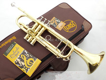 American Bach TR-600 Gold-Lacquer B flat Bb professional trumpet Top musical instruments in Brass trompete trumpeter bugle