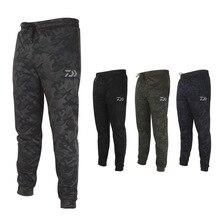 Daiwa мужские анти-УФ камуфляжные штаны рыболовные ветрозащитные дышащие эластичные рыболовные брюки быстросохнущие спортивные штаны M-4XL