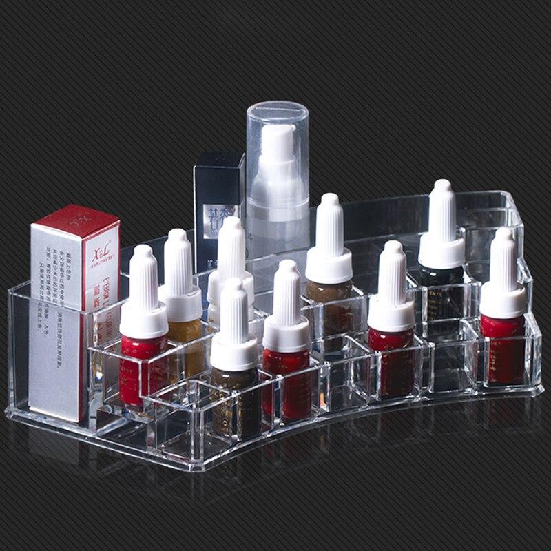 1pcs Acrylic Cosmetic Make up Organizer Makeup Make up Organizer Storage Box Microblading accessories