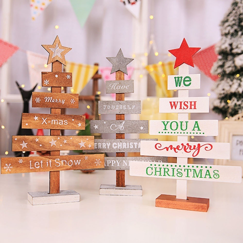 christmas decorations for home wood noel decoration maison noel decoration fleurs sapin Products Christmas new year 2019 nouveau