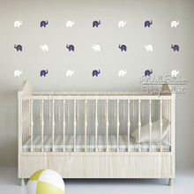 Elephants Wall Sticker Baby Nursery Elephant Decal DIY Pattern Kids Room Cut Vinyl Children Stickers P7