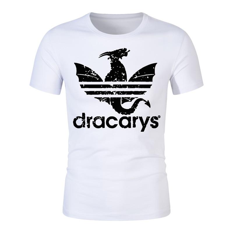 2019 New Dracarys   T     Shirt   Harajuku Style Hot Game of Thrones Daenerys Dragon Fire Printed   T  -  Shirt   Men Women O-Neck Modal Tshirts