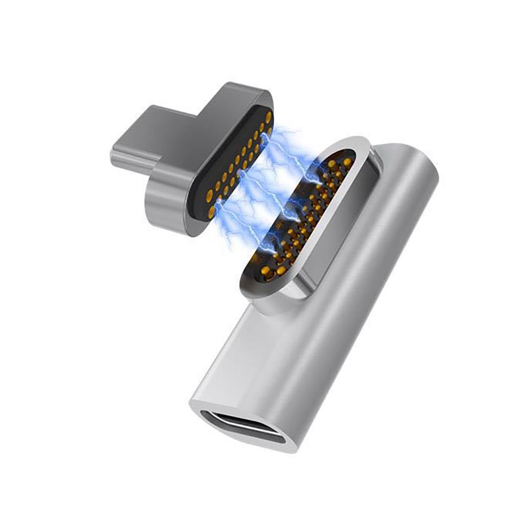 USB C Magnetic Adapter 20Pins Magnetic To USB C 3.1 Converter Adapter Support 86W PD Or Mac Book Pro15
