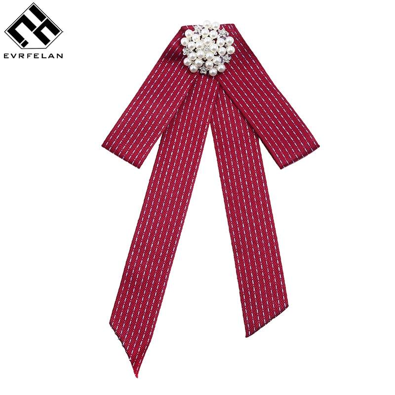 Evrfelan Mode Frauen Business Krawatte Lange Perle Krawatten Weibliche Casual Bogen Krawatten Frauen Hohe Qualität Uniform Verlängert Bowties Krawatten & Taschentücher Damen-accessoires