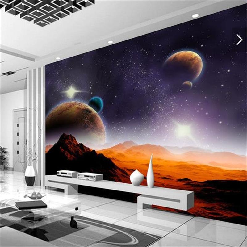 US $8.85 41% OFF|Beibehang fototapete 3D stereo alien cosmic star TV  hintergrund wohnzimmer schlafzimmer café kreative sofa hintergrundbild-in  Tapeten ...