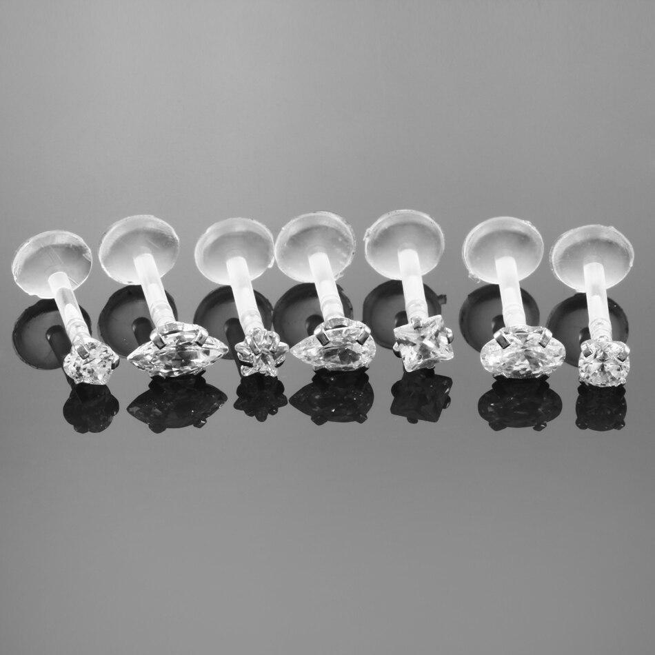 Bubble Body Piercing Bioflex Industrial Barbell Adjustable Sliding Charm with Titanium Balls Gauge 14g