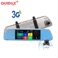 QUIDUX Android 5 0 Car Dvrs 7 Inch IPS Touch Rearview 3G Mirror Cameras GPS Bluetooth