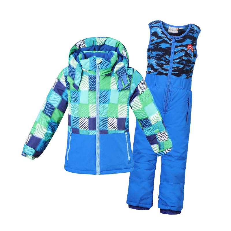 Children Ski Suit Winter Baby Boys Girls Outdoor Clothes Waterproof Windproof Kids Snow Jacket +Bib Pants 2Pcs Clothing Set 2pcs set kids clothes down jacket rompers sport ski suit girls boys clothes toddler baby tracksuit winter children clothing