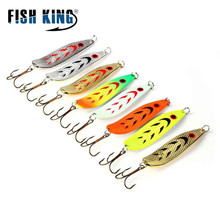 FISH KING Spoon Bait 5pcs/lot Wobbler 20g 30g Peche  Fishing Lure Tackle China Winter Artificial Hard Fake Fish Metal Lures Set цена