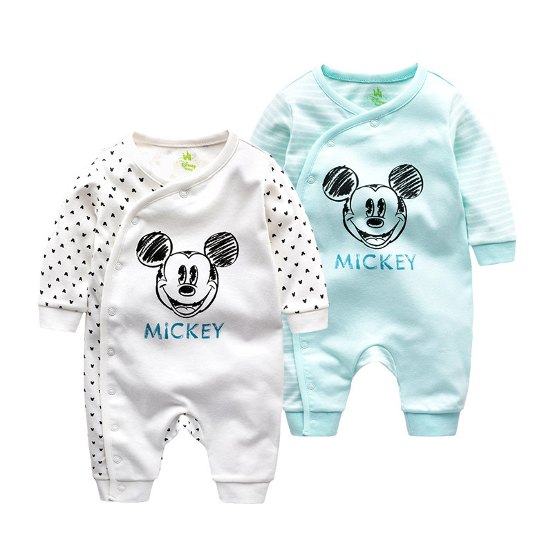 9e0cfc9ff9cf3 Disney Baby Cartoon Cotton Out Service Rompers Spring And Autumn Newborn  Suitcase Full Moon Long Sleeves Rompers-in Rompers from Mother   Kids on ...