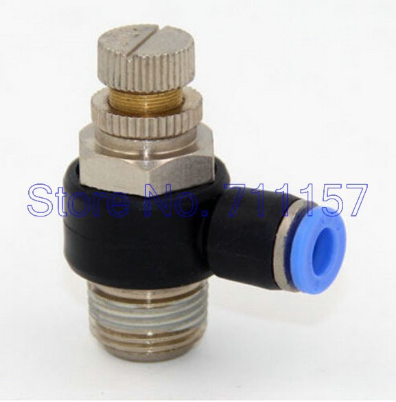 5pcs Pneumatic Angle Air Flow Control Valve 6mm Tube to Male M6 Thread Fitting