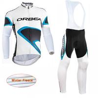 Cycling Jersey Men 2017 Team ORBEA Winter Thermal Fleece Bicycle Wear Long Sleeve Pro Racing Bike
