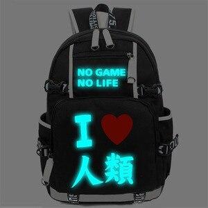 Image 4 - Geen Game Geen Leven Ik Liefde Human Cosplay Rugzak Cartoon Lichtgevende Student School Schoudertas Tiener Laptop Reistassen