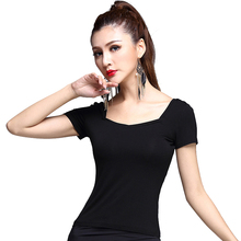 New Fashion Modern sexy short sleeve Latin Dance top for women/female/girl, Tango Samba Ballroom Costume performance wear MD6205
