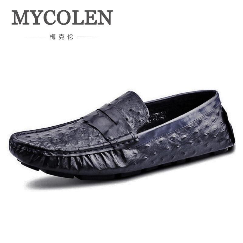 D'été Noir Marine Motif Plat Casual bleu Hommes Vintage Chaussures on Rouge Cuir Vin En Bleu Style Conduite Slip Mocassins Mycolen 5gqXwxHx