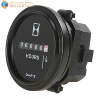 2 Inch DC 8 80V Round Mechanical Hour Meter Counter Timer Hourmeter For Race Car Boat