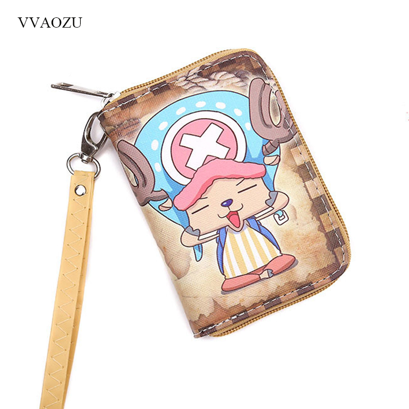 One Piece Wallets Short Coin Purse Small Zipper Wallet PU Leather Card Holder Pocket Purse Clutch Money Bag cartoon short wallet pocket monster pokemon satoshi pikachu short wallets two fold purse children wallet gift