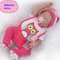 New 22 polegadas Marca de Corpo Cheio de Silicone Bonecas Reborn De NPK Brinquedos Meninas Bonecas bonito Brinquedos Do Bebê Como Presente de Aniversário Para Crianças