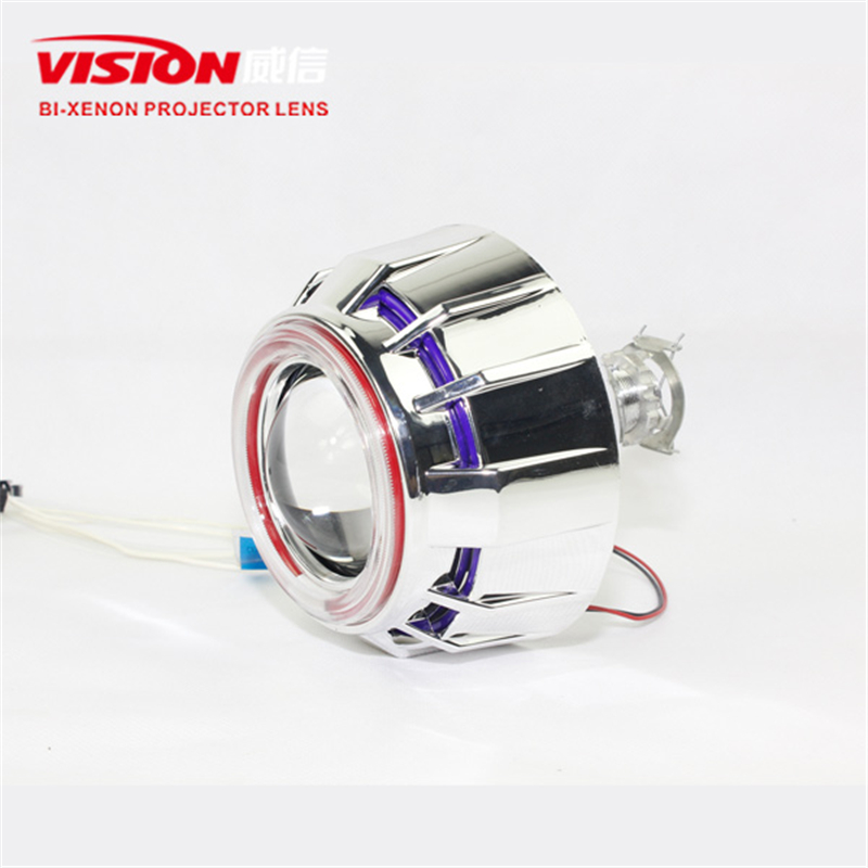 Free Shipping Car Styling IPHCAR Green AngelEyes Automotive Hid Bi Xenon Projector Lens Kit for Car and Moto H1 H7 H11 9005 9006 new m803 2 5 car motorcycle universal headlights hid bi xenon projector kit and m803 hid projector lens for free shipping