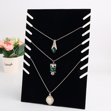 Black Necklace Bust Jewelry Pendant Necklace Bracelet Display Holder Stand Velvet Easel Rack Composite Board Jewelry Holder New