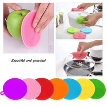 CARRYWON Cleaning Brush Kitchen Tools Silicone Dish Washing Bowl Pot Pan Wash Brushes Cleaner Scouring Pads