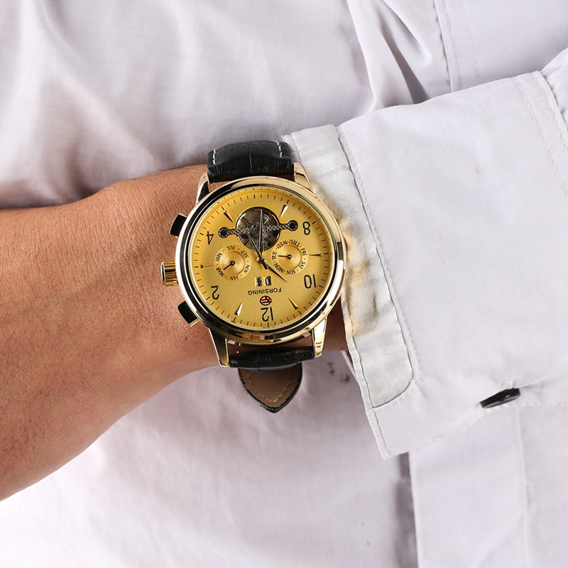 WINNER Watch Men Skeleton Automatic Mechanical Watch Gold Skeleton Vintage Man Watch Mens FORSINING Watch Top Brand Luxury Clock 2019 2020 2021 2022 2023 (14)