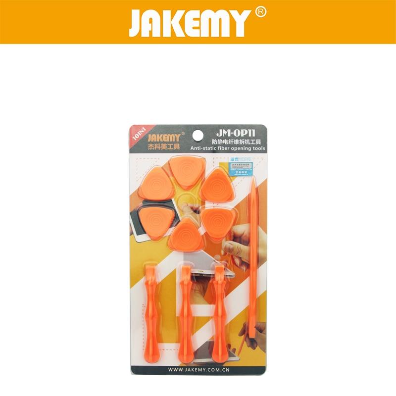 JAKEMY 10 in 1 Opening Tools Repair Tool Set Plastic Sheet Opener Mobile Phone Tablet PC Smart Cell Phone