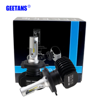 GEETANS 2pcs 50W 8000LM H4 H7 LED Car Headlight 9006 9007 9008 H1 H3 H13 H11