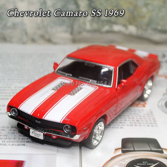 Brand New Uni 1 36 Scale Pull Back Car Toys Clical Chevrolet Camaro Ss 1969