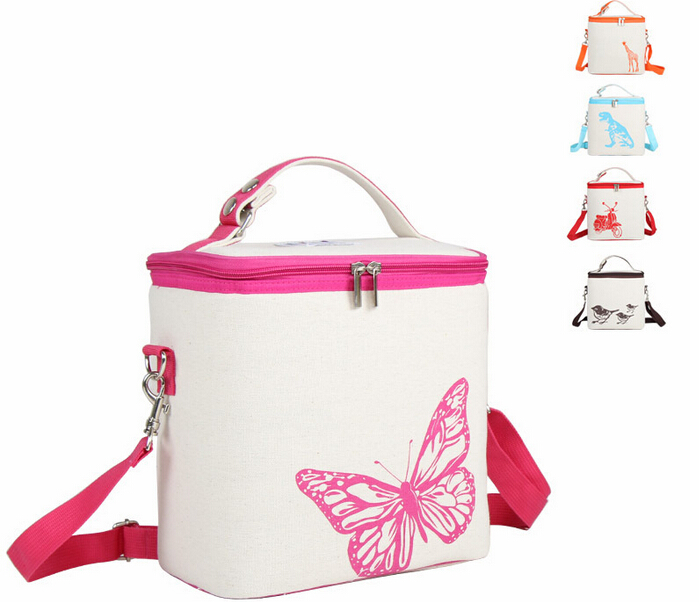 wholesale Insulation bag zoo insulated bag keep food cool warm 3D breastmilk bottle storage animal adjustable
