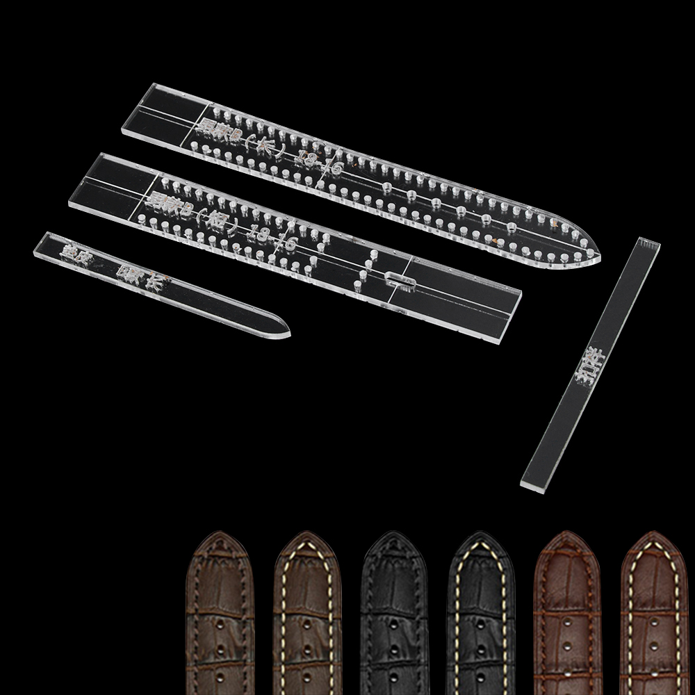 1Set Transparent Acrylic Women Men Watch Strap Band Stencil Template Mold Mould DIY Leather Craft Tool