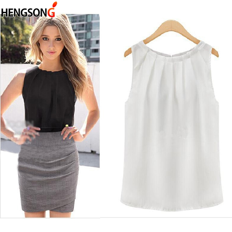 Tank     Tops   Women Loose Casual Chiffon Solid Sleeveless Vest All-match Sexy Basic O-neck   Tops   For Women Female Clothing