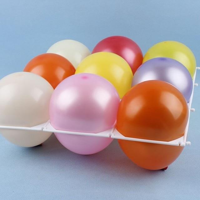 10tk Latex balloonvõrguga plastist 9 auguga õhupalli õhupallid - Pühad ja peod - Foto 1