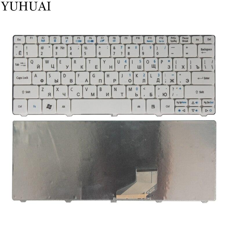 For Acer Aspire One Happy 2 ZE-7 E100 AOE100 P0VE6 POVE6 ZE6 ZE7 N55C Laptop Keyboard White Russian/RU