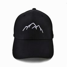 Mountain range embroidery Baseball Caps Mens Womens  Adjustable Snapback Fashion dad Hats Bone