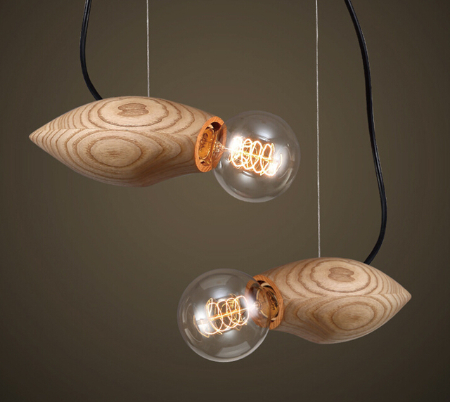 American Country Individual Creative Art Solid Wood Pendant Lamp Bar - Individual pendant lights