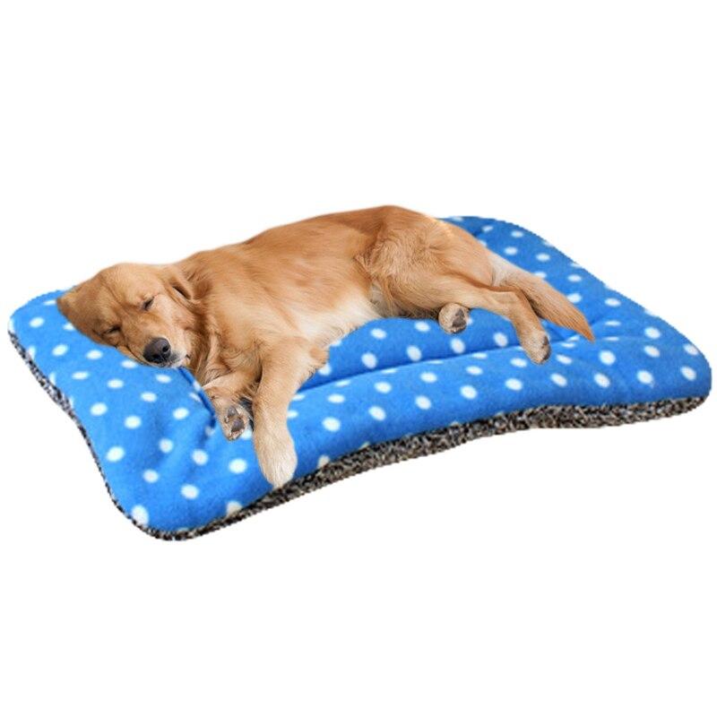 classic pet dog cat soft fleece esteras cama del perro de animal domstico de puntos gato