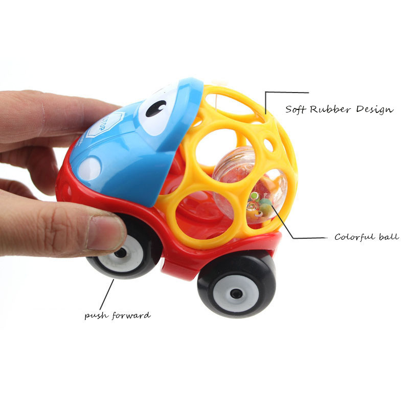 Cute Soft Rubber Hole Inertia Car Rattle Creative Safety Teether Children Sliding Toys Easy To Grasp For Newborn Best Gifts Toys & Hobbies
