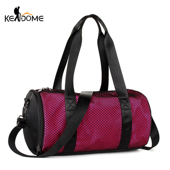 Round-shaped Sports Gym Bag Fitness Men Independent Shoe Storage Outdoor Training Finishing Handbag Travel Luggage Bags XA482WD Shoe Bags