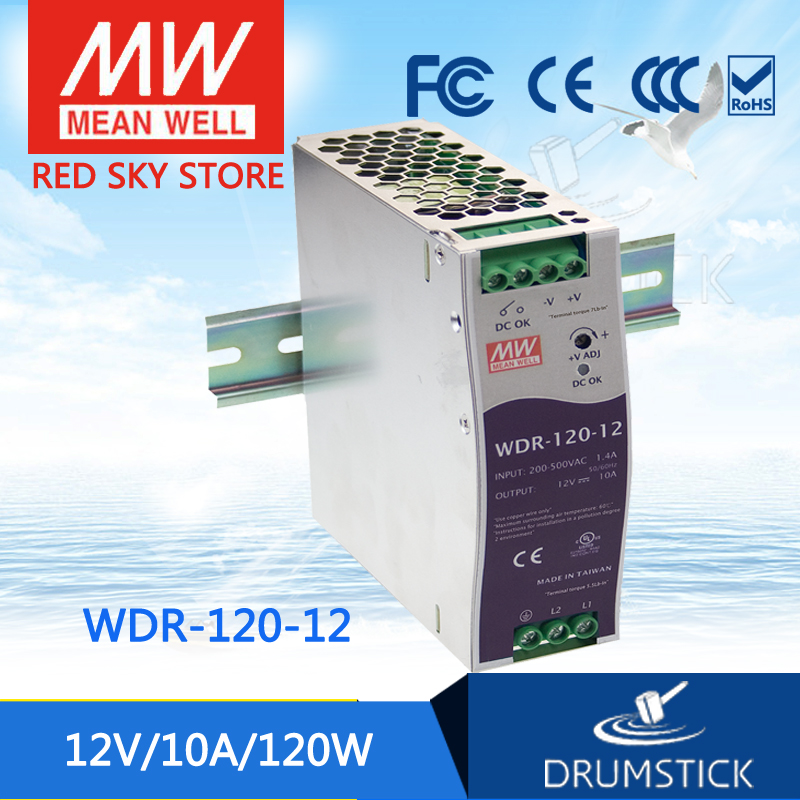 цена на Best-selling MEAN WELL WDR-120-12 12V 10A meanwell WDR-120 12V 120W Single Output Industrial DIN RAIL Power Supply